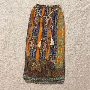 Vestique Paisley Print Maxi Skirt Size Small